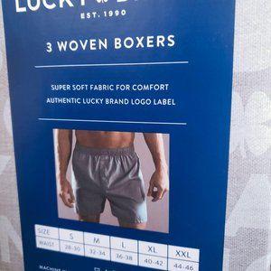 3-Woven Men Boxers, LUCKY BRAND